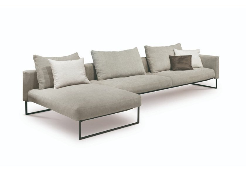 Fabric sofa with removable cover with chaise longue ARLON | Sofa with chaise longue by Désirée divani