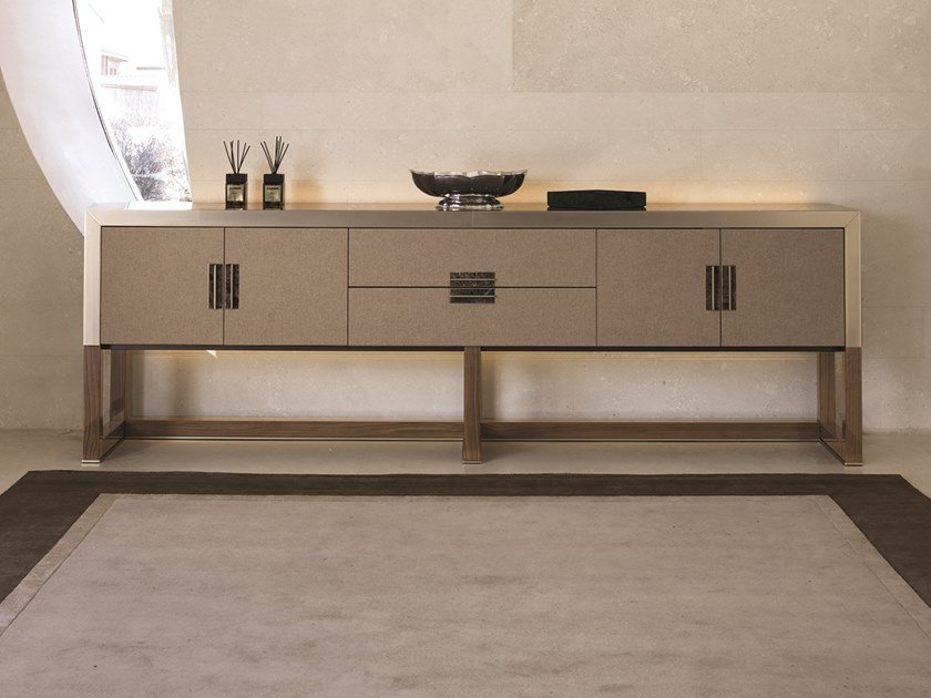 Cashmere sideboard with integrated lighting ARMAND | Sideboard with integrated lighting by Longhi