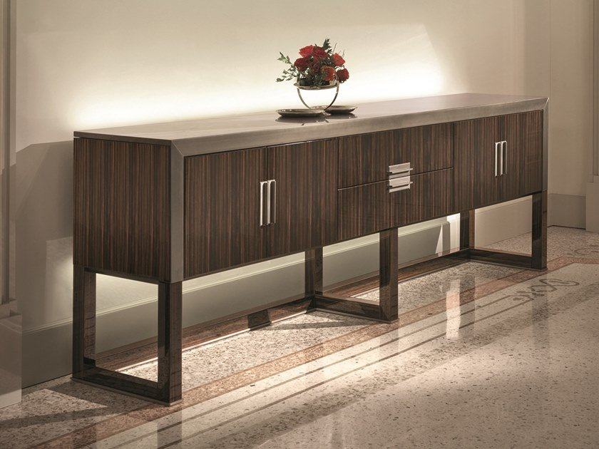 Wooden sideboard with integrated lighting ARMAND | Wooden sideboard by Longhi