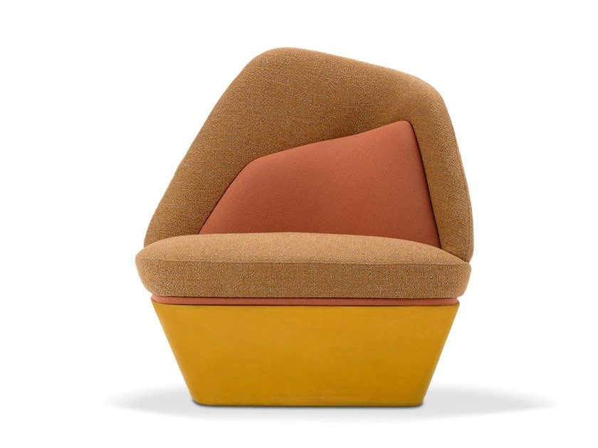 Upholstered fabric armchair BIXIB | Armchair by Adrenalina