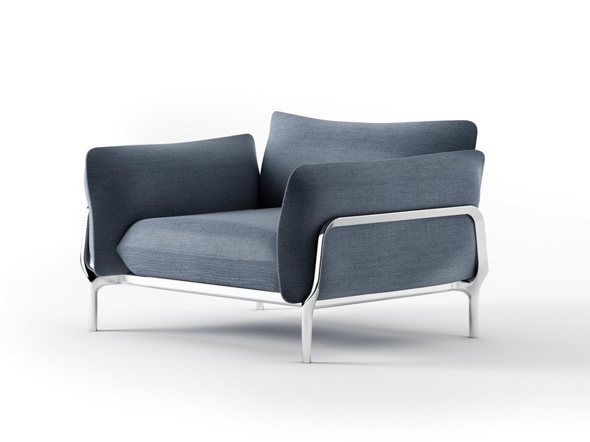 Fabric armchair with armrests VINA V01 by Alias