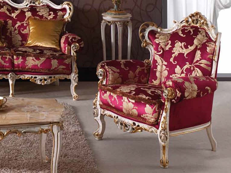 Upholstered armchair with armrests BAROQUE | Armchair by Arvestyle