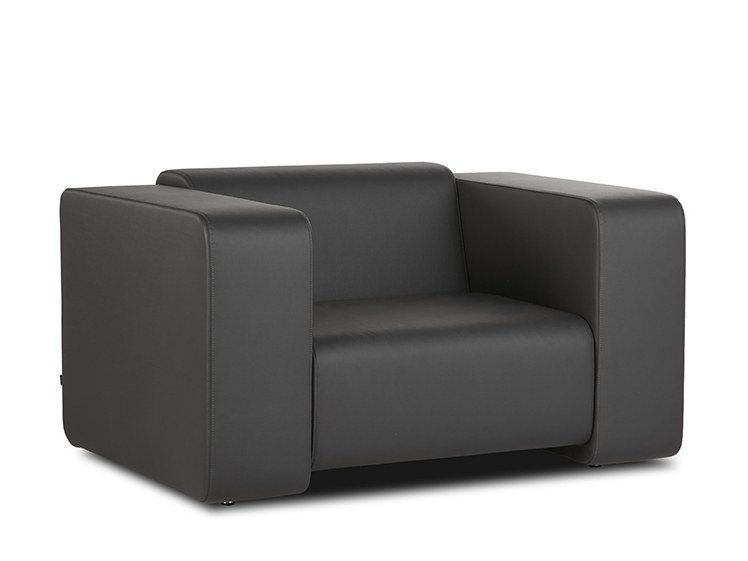 Leather armchair with armrests FRANK | Armchair by B&T Design