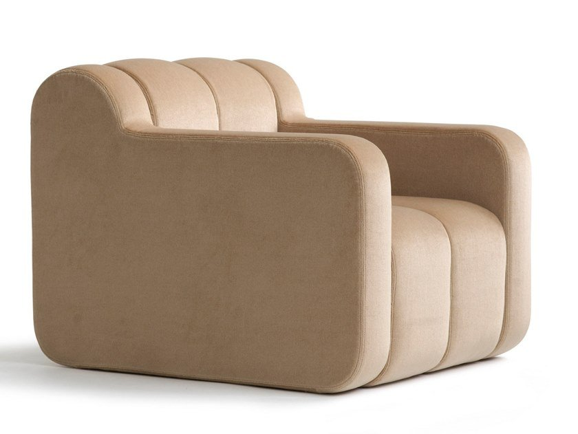 Fabric armchair with armrests BOB HOME   Armchair by Blå Station