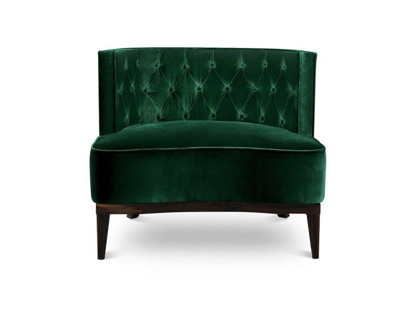 Tufted velvet armchair BOURBON | Armchair by BRABBU