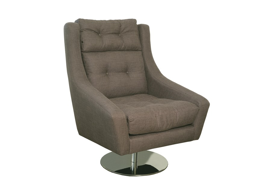 Swivel fabric armchair with armrests ÉVORA | Armchair by Branco sobre Branco