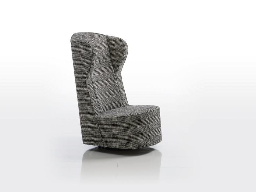 Swivel fabric armchair POEM | Swivel armchair by brühl