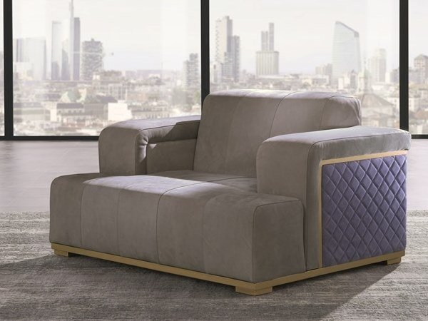 Fabric armchair with armrests CUBE | Armchair by Carpanelli