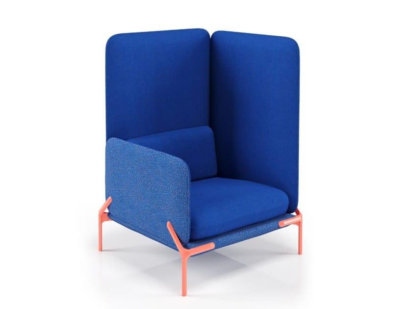 Fabric armchair CAST | Armchair by La Manufacture du Design