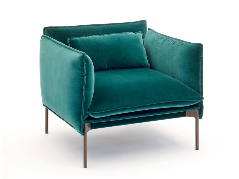 Fabric armchair with armrests PALM SPRINGS | Armchair by COEDITION
