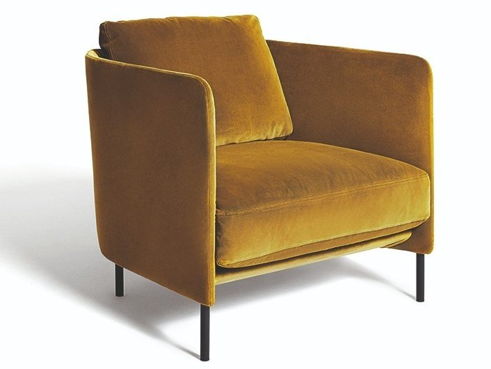 Armchair with armrests BLENDY | Armchair by DE PADOVA