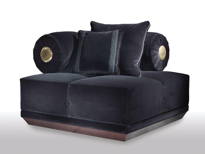 Modular velvet armchair CAESAR | Armchair by ELLEDUE ARREDAMENTI