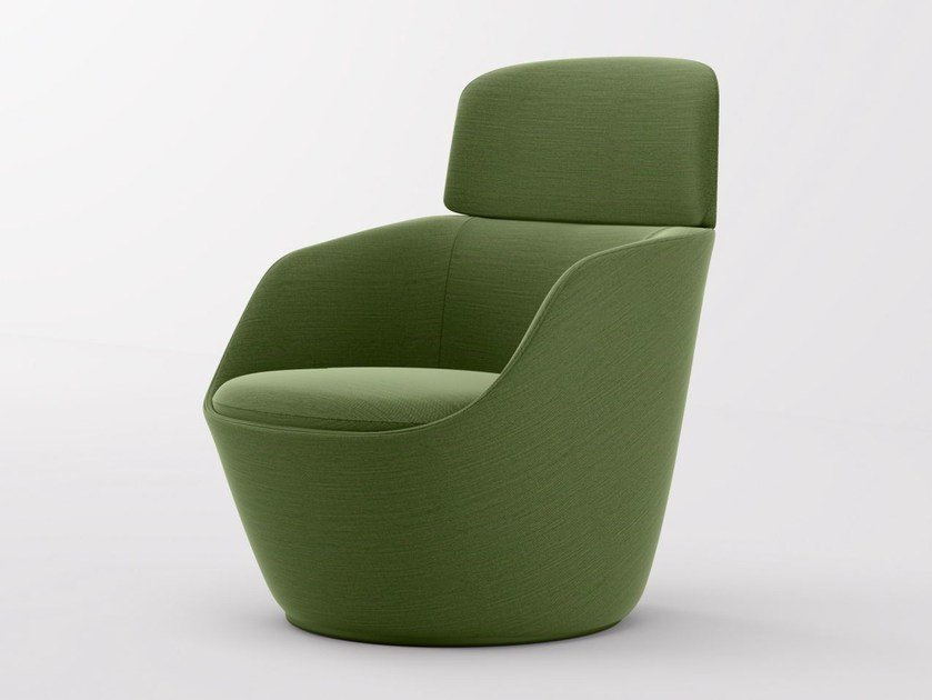 Fabric armchair with armrests RADAR | Armchair by Emmegi