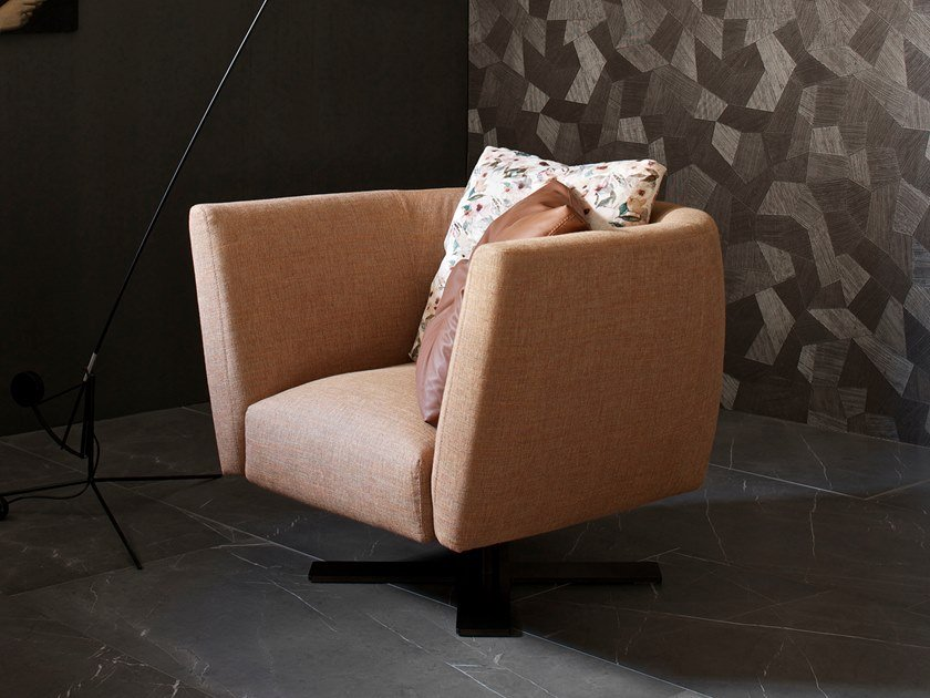 Fabric armchair with removable cover with armrests SAINT BARTH | Armchair by ESTEL GROUP