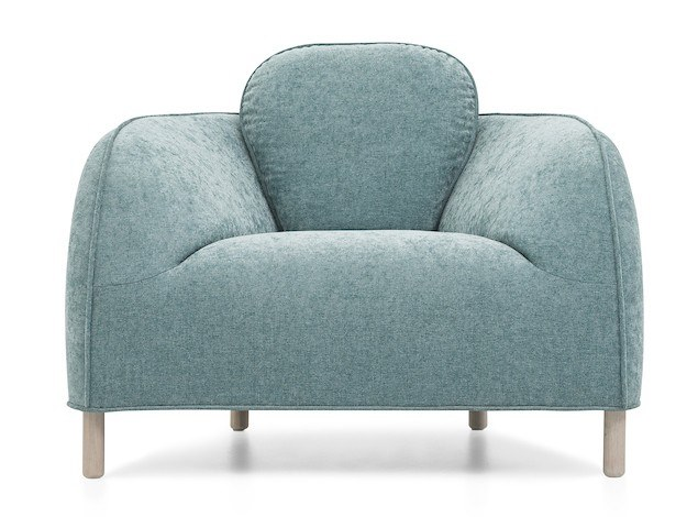 Leather armchair with armrests DOLOMIA   Armchair by Extraform