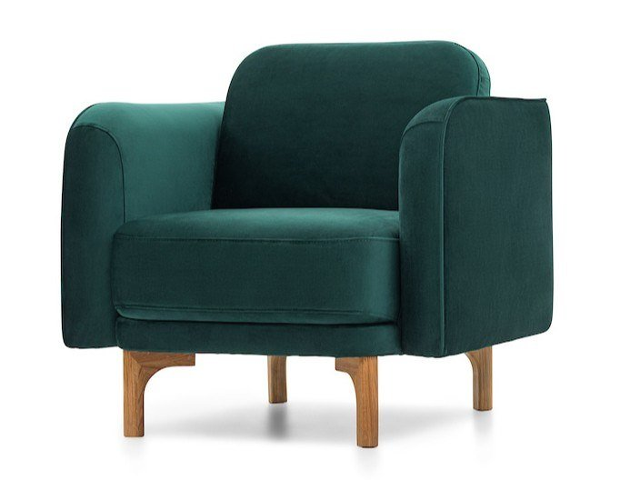 Fabric armchair with armrests LOOP | Armchair by Extraform