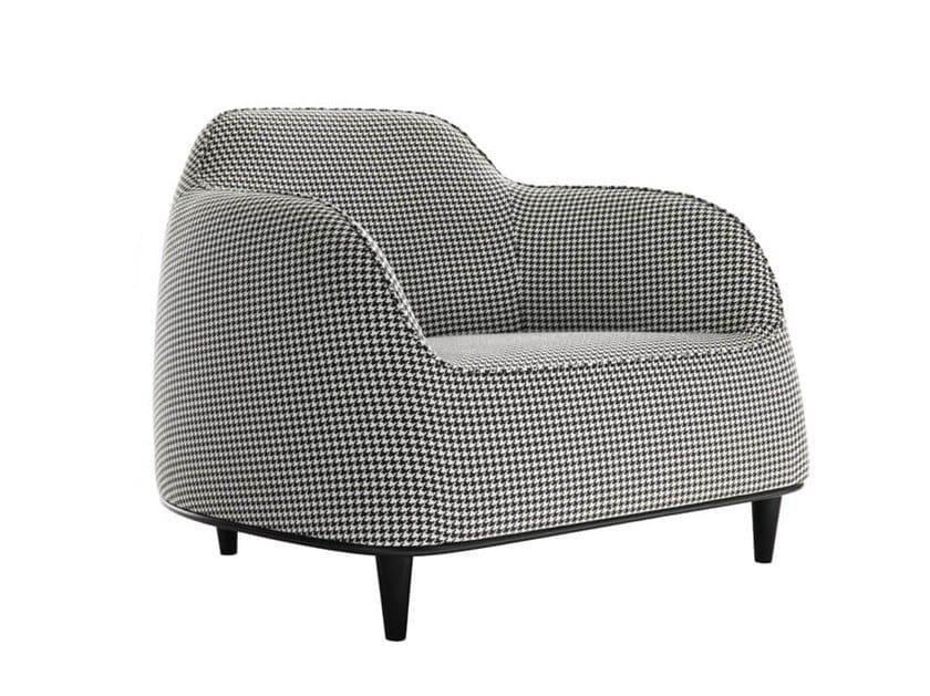 Fabric armchair with armrests BEAR | Armchair by HC28