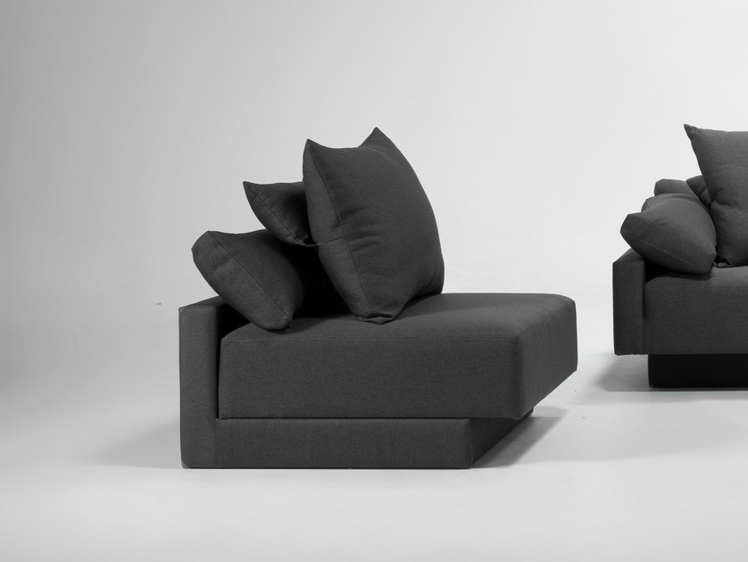 Modular armchair with removable cover CUBAN | Armchair by Feydom