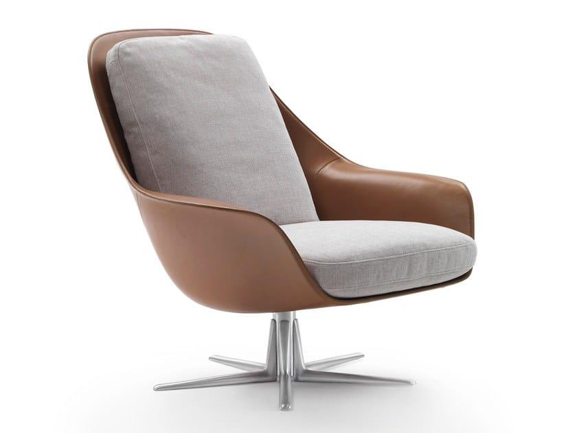 Swivel armchair with armrests SVEVA | Armchair by FLEXFORM