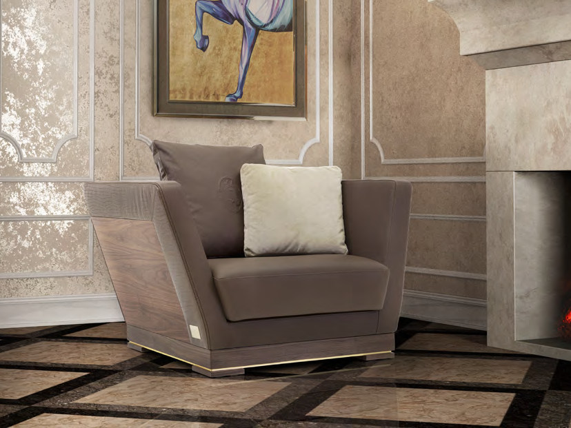 Upholstered leather armchair ALHAMBRA | Armchair by Formitalia
