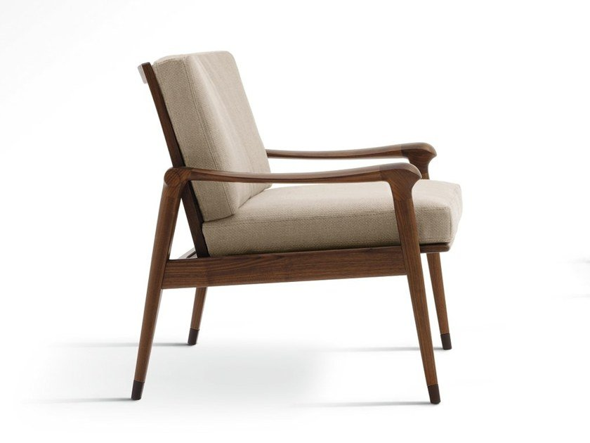 Armchair with armrests DENNY | Armchair by GIORGETTI