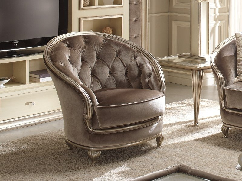 Tufted fabric armchair EDEN | Armchair by Gold Confort