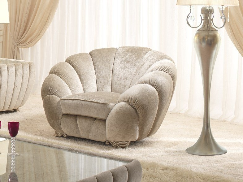 Fabric armchair with armrests PEARL | Armchair by Gold Confort