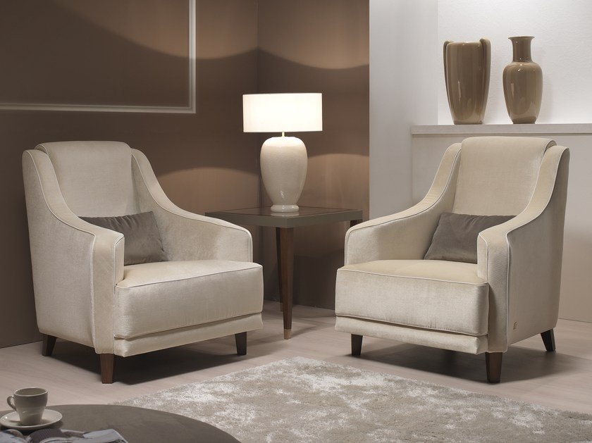 Fabric armchair with armrests CLARK   Armchair by Gold Confort