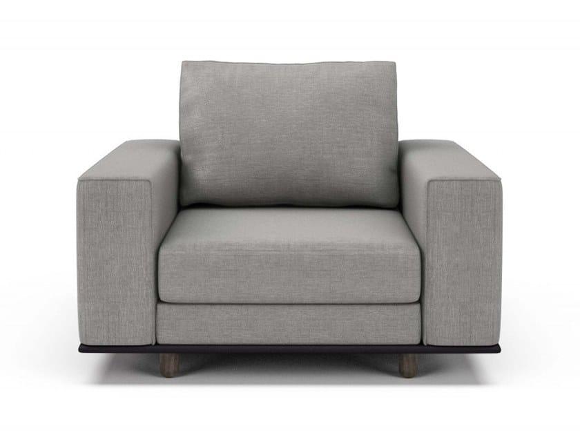 Fabric armchair with armrests EDITION | Armchair by Huppé