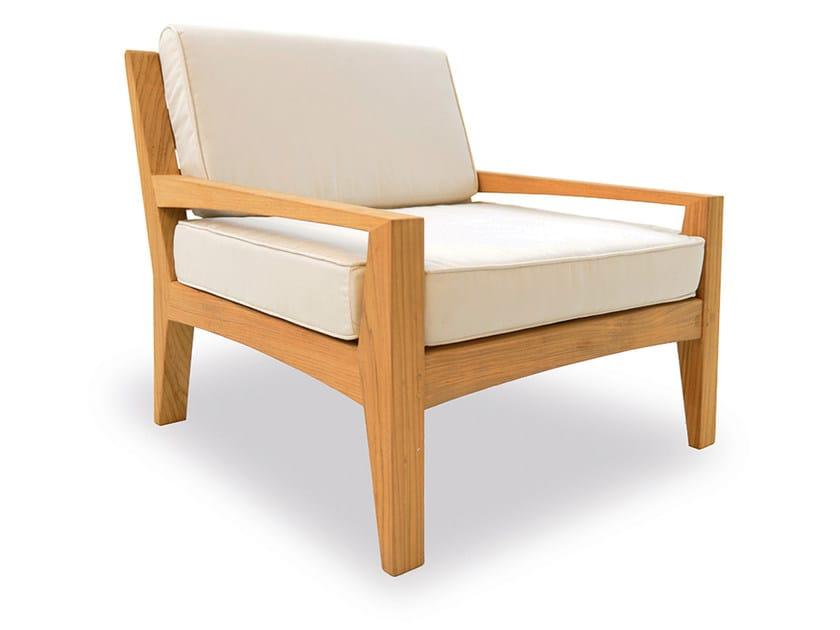 Teak garden armchair with armrests COVE   Garden armchair by INDIAN OCEAN