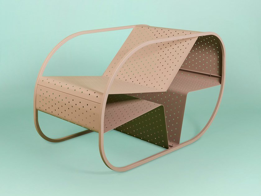 Poltrona a slitta in metallo FLIP | Poltrona by Giacopini