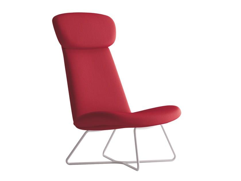 Sled base armchair with headrest MYPLACE | Armchair with headrest by La Cividina