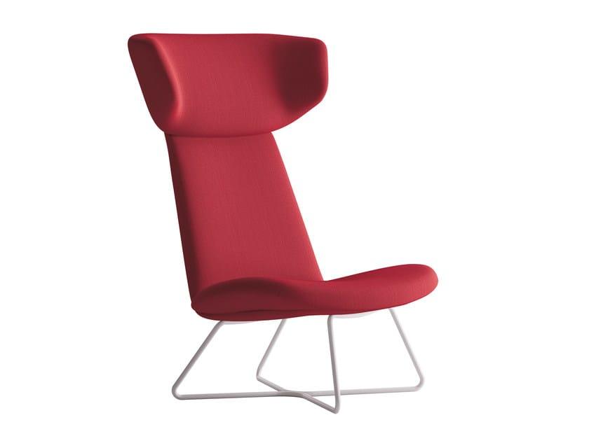 Sled base wingchair MYPLACE | Wingchair by La Cividina