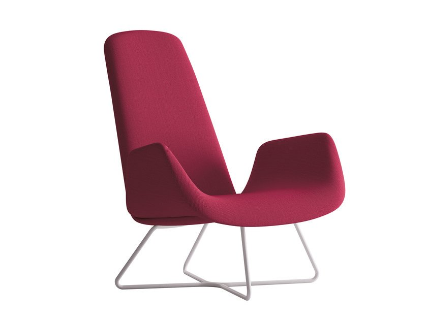 Sled base armchair with armrests MYPLACE | Armchair with armrests by La Cividina