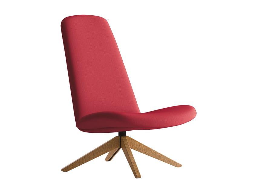 Armchair with 4-spoke base MYPLACE   Armchair by La Cividina