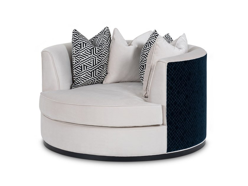 Upholstered velvet armchair with armrests EMPIRE | Armchair by Stylish Club
