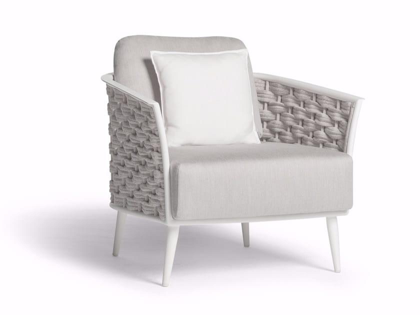 Rope garden armchair with armrests CASCADE | Garden armchair by MANUTTI