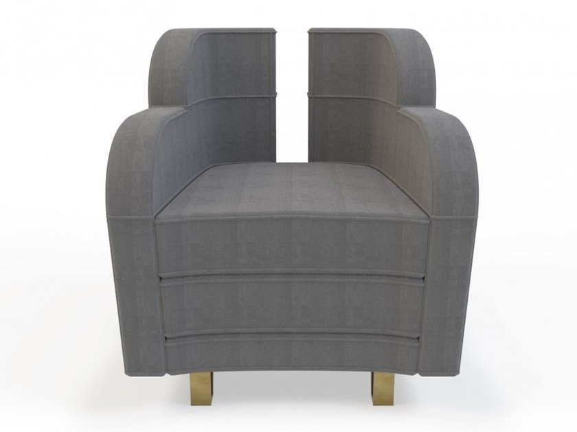 Fabric armchair with armrests WING | Armchair by MARIONI