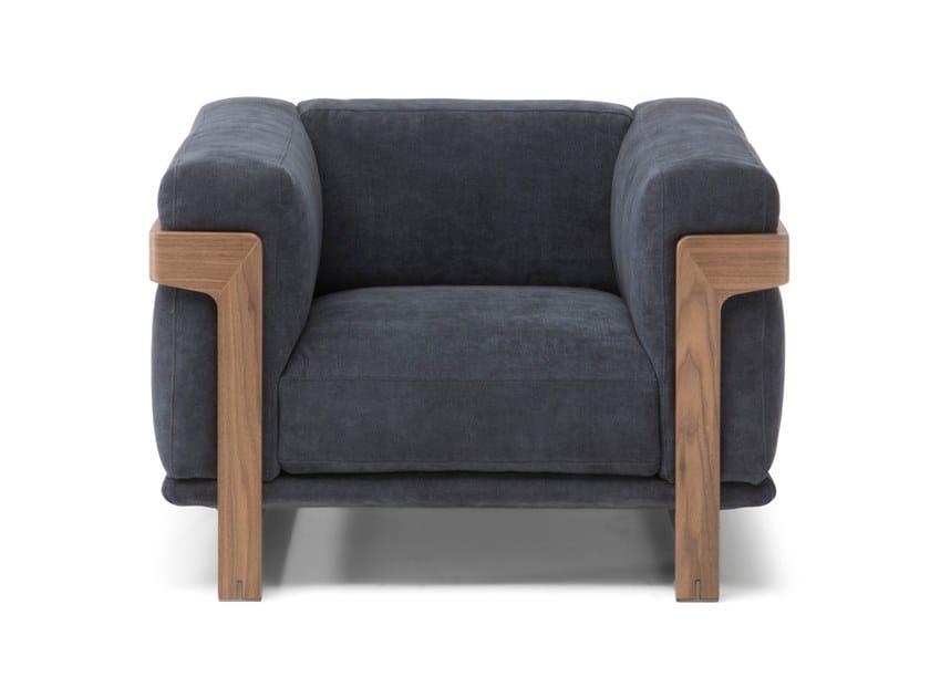 Armchair with armrests DALTON | Armchair by Natuzzi