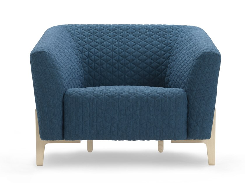 Fabric armchair with armrests YOUNG | Armchair by Offecct