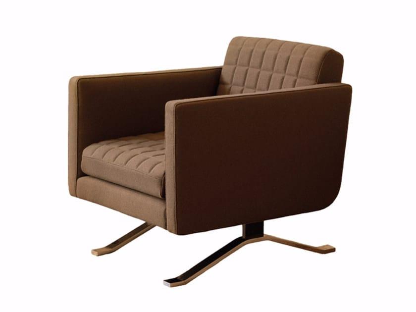 Fabric armchair with armrests KYLIAN | Armchair by Palau