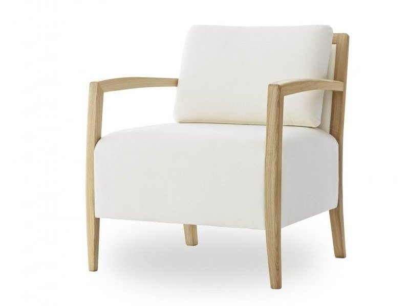Fabric armchair with armrests DELPHI LAZY LIGHT by Passoni