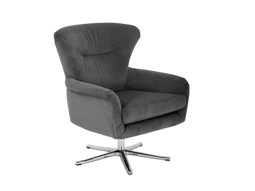 Upholstered fabric armchair with armrests BRIDGE | Armchair by Stylish Club
