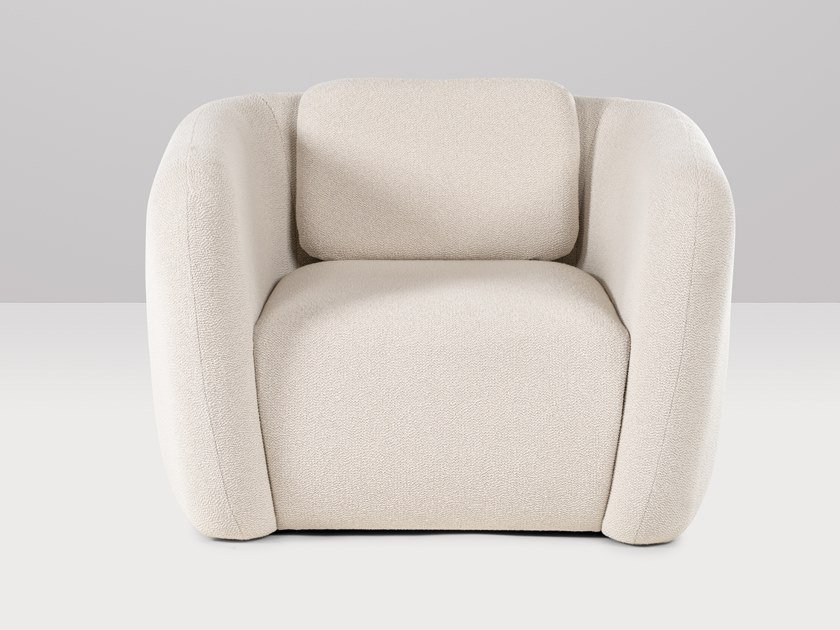 Fabric armchair with armrests AMSTERDAM | Armchair by Recor Home
