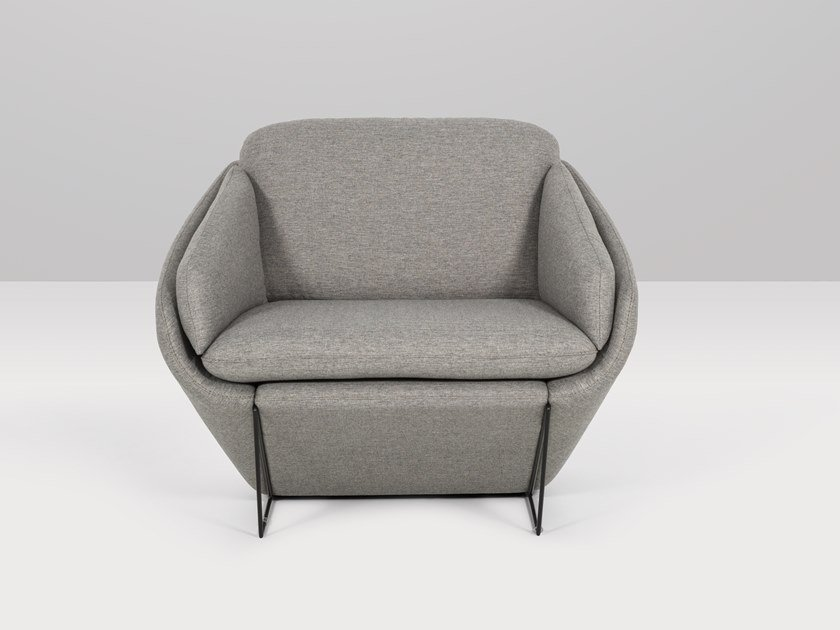 Fabric armchair with armrests BRUNELLO | Armchair by Recor Home