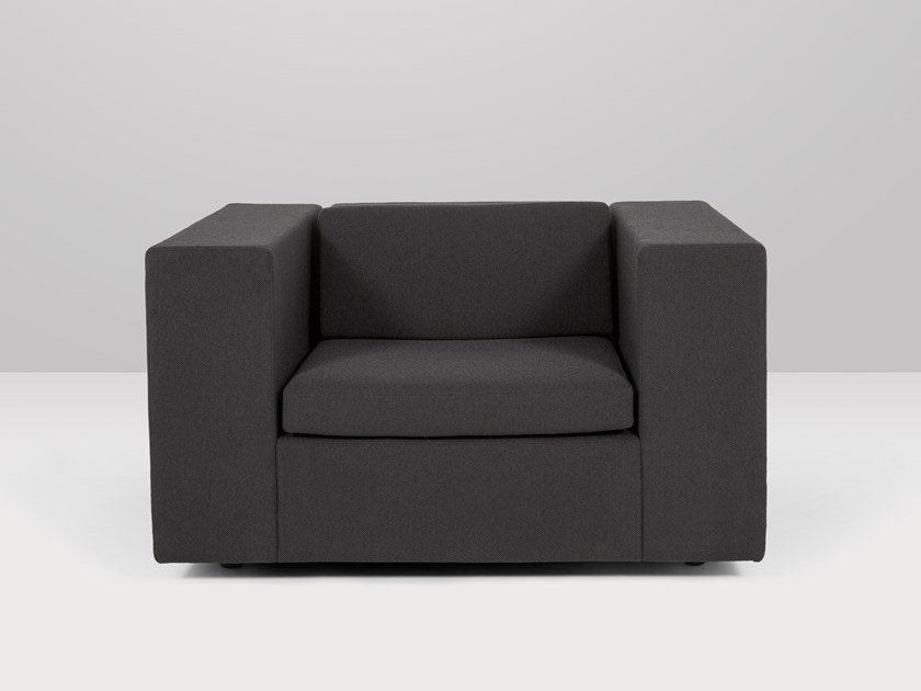 Fabric armchair with armrests MONTREAL | Armchair by Recor Home