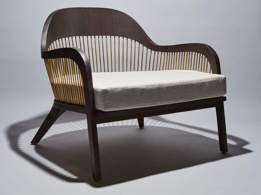 Armchair with armrests LANKA | Armchair by REDA AMALOU DESIGN