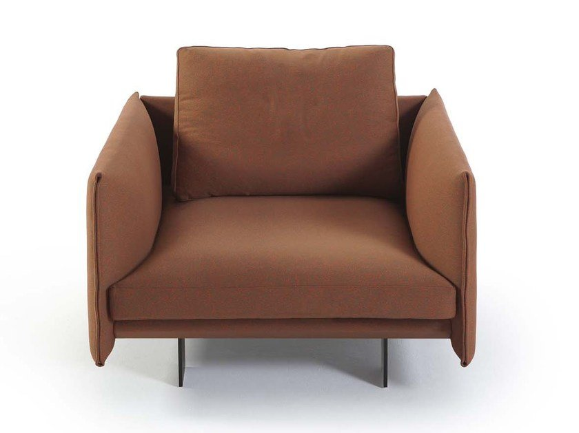 Fabric Armchair With Armrests DEEP | Armchair By Sancal