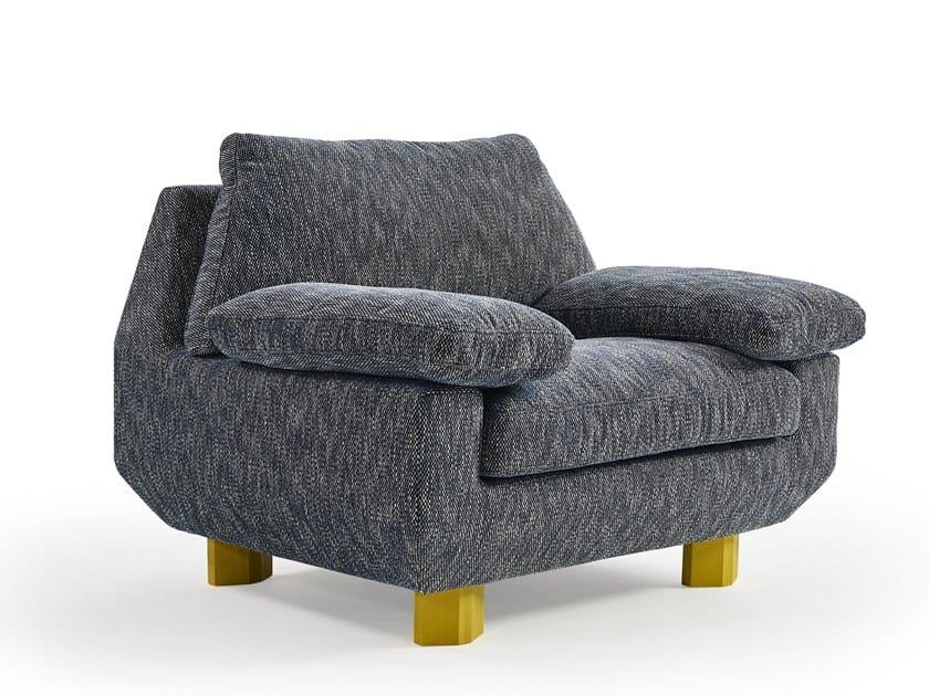 Fabric armchair with armrests DB | Armchair by Sancal