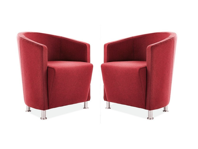 Upholstered easy chair with armrests AXEL | Easy chair by Sedex